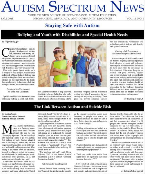 Autism Plus Wandering >> Asn Fall 2018 Issue Autism Spectrum News Autism Spectrum News